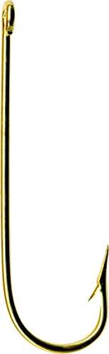 Mustad 3260B Classic Aberdeen Hook (10-Pack), Gold, Size 6