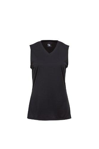 Badger Sportswear Women's B-Dry Sleeveless Performance Tee, Black, Large