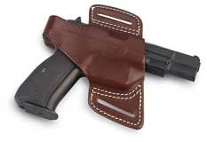 42008 420 Secret Agent Holster, Walnut Oil, Plain Finish