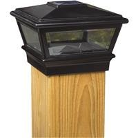 Worldwide Sourcing 6x6 Blk Solar Post Cap