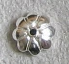 Sterling Silver Flower Connector - 20 pcs .925 Sterling Silver Flower Bead Caps 5.5mm / Findings/Bright