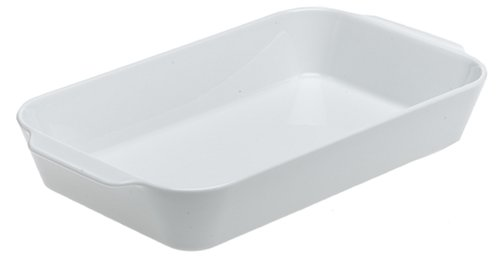 Pillivuyt Porcelain Extra Deep Rectangular Roaster With Ears, Large - 13-by-9-by-2-1/2-Inch ()