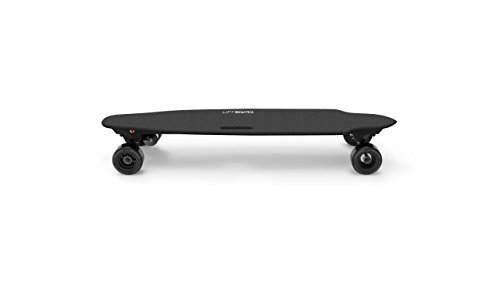 LiftBoard Single Motor Belt Driven Electric Skateboard, Black, 39