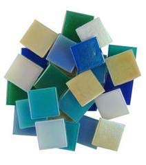 Jennifer's Mosaics Iridized Venetian Glass Tile Assortment, Assorted Colors, 3 Pounds by Jennifer's Mosaics