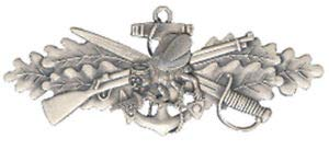 """Seabees Combat Warfare Enlisted Hat Pin 1 1/2"""" by HighQ Store by USA"""