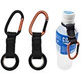 Hongfa 2Pcs Portable Carabiner Water Bottle Drink Buckle Hook Holder Clip Key Chain Ring for Camping Hiking Traveling