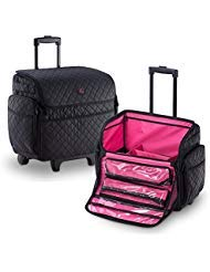 (KIOTA Makeup Artist Rolling Makeup Train Case Cosmetic Organizer Soft Trolley)