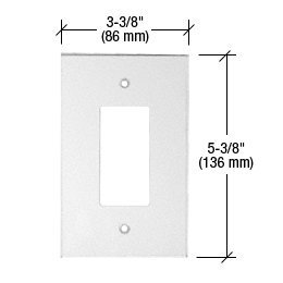 CRL Single Decora Acrylic Mirror Plate - Clear by C.R. Laurence