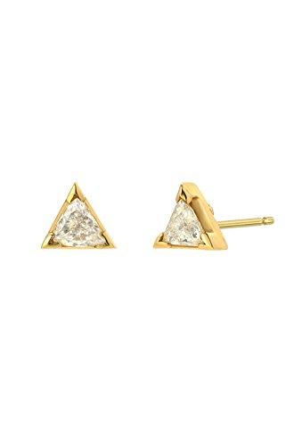 (Diamond trillion stud earrings, Zoe Lev Jewelry)