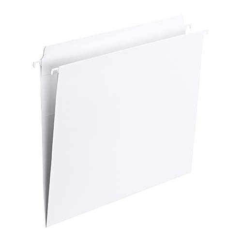 Smead 64102 FasTab Hanging File Folder, Straight-Cut Built-in Tab, Letter Size, White
