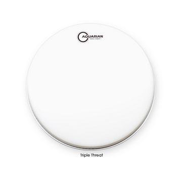 Aquarian TRP14 14-Inch Triple Threat Snare Batter Head by Aquarian Drumheads