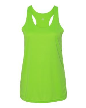 Badger Womens Performance Racerback Tank (4166) -LIME -XL (Tank Lime Green Racerback)
