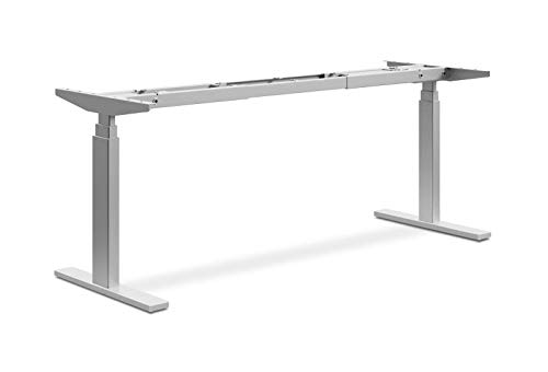 HON Coordinate Height-Adjustable Base - 3-Stage Expandable Desk or Table Base, Nickel (HHAB3S2L)