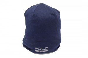 Polo Ralph Lauren Reversible Beanie Hat (One Size, French Navy)