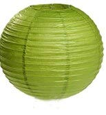 BeesClover 25pcs 8'' (20cm) Round Paper Lanterns for Wedding Party Birthday Gift Craft DIY Lantern Ball Home Hanging Decoration Lime Green 8inch 20cm