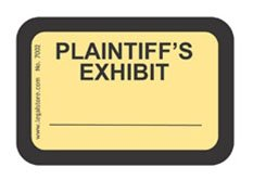 LegalStore Exhibit Labels \
