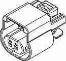 Automotive Connectors 2P FM BLK CON ASSY 150 SERIES 15 AMPS (5 pieces)