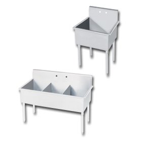 Compartment Square Corner Sink - 1