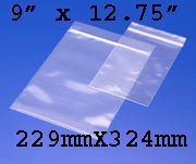100 Grip Seal Bags 9 x 12.75 Inch 200g Strong Reusable Zip Lock Gripseal
