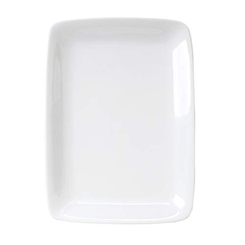 HIC Harold Import Co. HIC Porcelain Rectangle Platter, 12.5-Inch, White ()