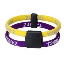 Trion Z Dual Loop Magnetic Wristband Bracelet. Choose Size and Color (Yellow/Purple, Large)