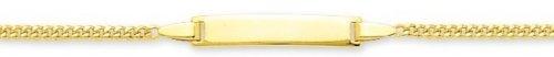 Robbez masson - Enfant - Bracelet Identité Or 9 Carats Maille Gourmette - Référence : 630021.2 - Longueur : 14 cm