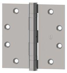 (HagerBB127944 x 4 Square Corner Ball Bearing Mortise Hinge - Single Hinge, Polished Brass)