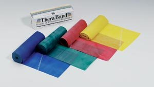 Hygenic/Thera-Band Professional Resistance Band, Tan/X-Thin, 6 Yd Dispenser Box, 24 20010 by TheraBand (Image #1)