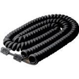 25FT Handset Cord Black Premium Retail Blister Pack, Office Central