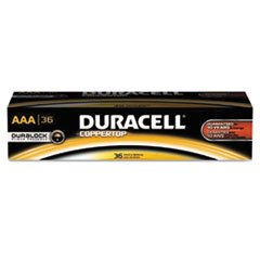 Duracell CopperTop Alkaline Batteries with Duralock Power Preserve Technology, AAA, 36/Pk 02401