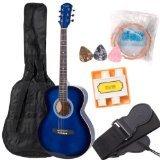Kalos 40-Inch Acoustic Concert Guitar Pack, Blue - OGP-40BB