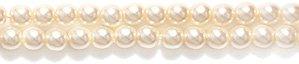 - Preciosa Ornela Imitation Round Glass Pearl, 2-mm, Parchment, 300-Pack