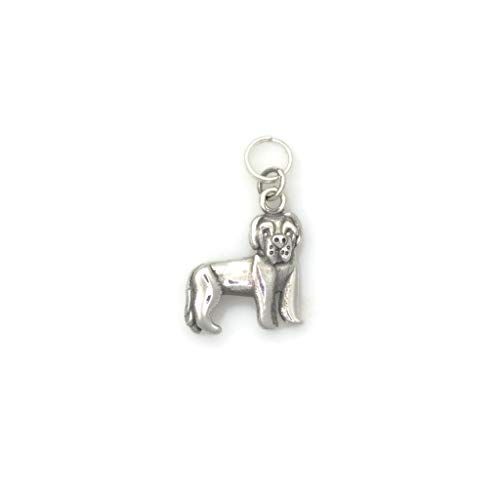 Sterling Silver Newfoundland Charm, Silver Newfie Charm, Silver Newfoundland Jewelry fr Donna Pizarro's Animal Whimsey Collection