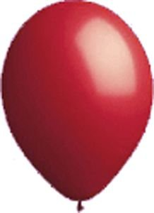 17'' Seal-Sealing Valved Red Latex Outdoor Balloon - Pack of 5 by Single Source Party Supplies