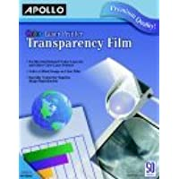 Apollo Color Laser Printer Transparency Film44; 50 Sheets