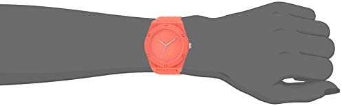 GUESS Japanese Quartz Watch with Silicone Strap, Orange, 23.1 (Model: U0979L25)