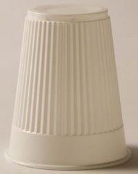 8957444 PT# 9211 Cup 5oz Plastic Embossed Disposable White 1000/Ca Made by Tidi Products LLC