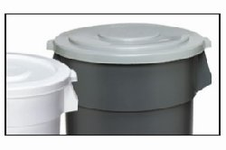 Huskee Receptacle (CMC 2001WH Huskee White Round Lid, 19-1/2