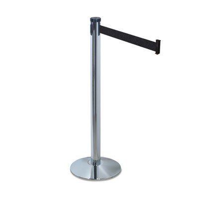 (Tatco Adjusta-Tape Crowd Control Stanchion Posts, Nylon, 40 inch High, Black, 2/Box)