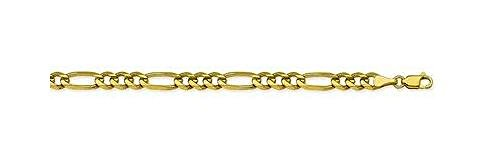 14kt Yellow Gold Figaro Chain Bracelet 5.80mm 14kt Gold Figaro Chain Bracelet
