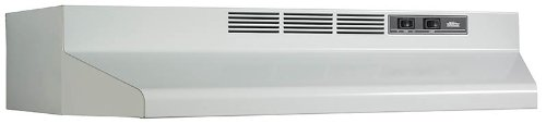 "Broan Convertible Range Hood Insert with Light, Exhaust Fan for Under Cabinet, White, 6.5 Sones, 160 CFM, 24"" from Broan"