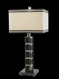 Dale Tiffany Fabric - Dale Tiffany GT70390 Prentiss Table Lamp, Nickel and Fabric Shade