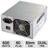 Cougar 600 Watt ATX12V Dual 8cm Fan Power Supply DX600