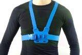 MegaGear Adjustable Chest Body Harness Belt Strap Mount For for GoPro HERO5, GoPro, GoPro HD, GoPro HERO3+, GoPro HERO4, Sj4000, Sj5000 Camera with MegaGear Cleaning Cloth (Blue)