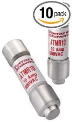 Mersen ATMR15 600V 15A Cc Fuse, 10-Pack