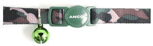 [Ancol Camouflage Cat Collar with safety buckle Green] (Camouflage Buckle)