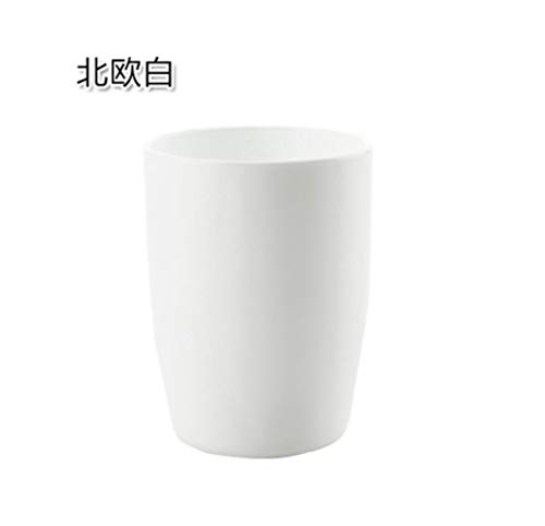 PP Gargle Cup,Simple and Fresh Couple Brushing Cup Thickening Japanese Round Mouth Cup Plastic Cup Wash Cup Brush Tooth Cylinder (White)