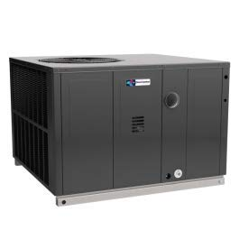 - Direct Comfort 4 Ton and 100000 BTU 14 SEER 81% Efficiency Dual Fuel Package Heat Pump Model: DC-GPD1448100M41