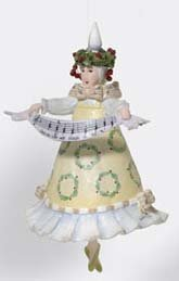 Department 56 Krinkles Fa La La Lady In Wreath Dress Christmas Ornament #38682