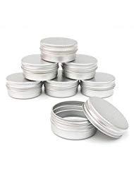Pack of 12 Aluminum Tin Jars Round Pot Screw Cap Lid for Lip